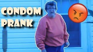 USED CONDOM PRANK! ON GRANDMA!