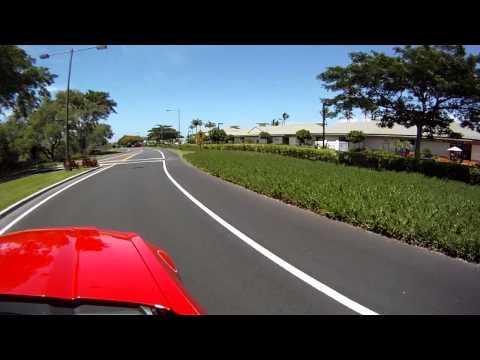 Driving into Mauna Lani resort