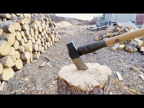 Splitting Knotty Wood - Gransfors Bruks Splitting Maul