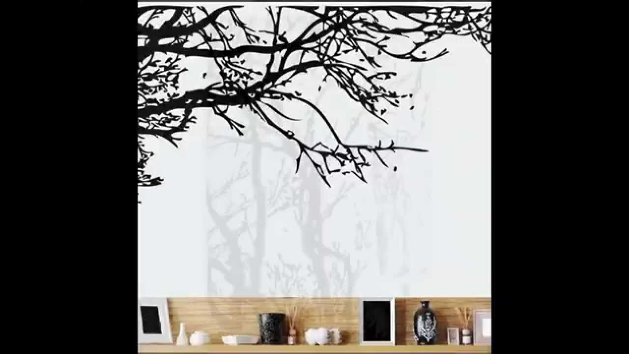 Black Tree Wall Sticker Removable Decal Room Wall Sticker New Home Decor Part 81