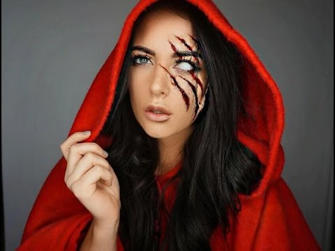 Red Riding Hood Halloween Makeup Tutorial - YouTube
