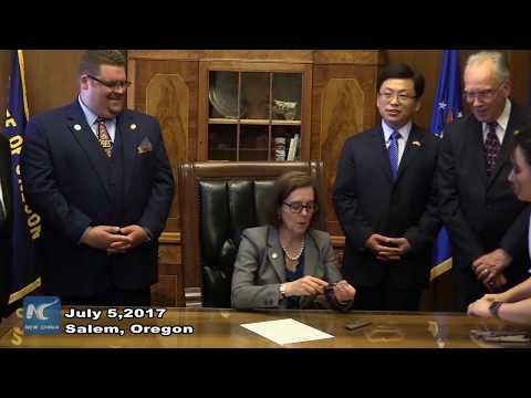 Oregon governor signs legislation supporting further economic ties with China