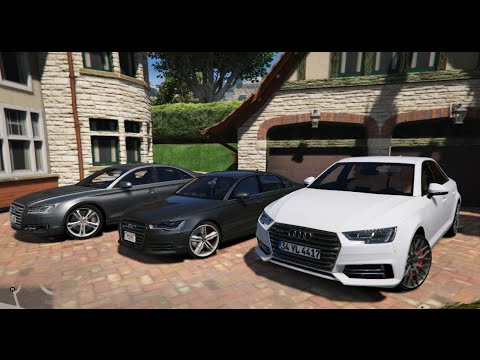 gta v audi a4 b9 vs audi a6 c7 vs audi a8 d4 gta 5. Black Bedroom Furniture Sets. Home Design Ideas