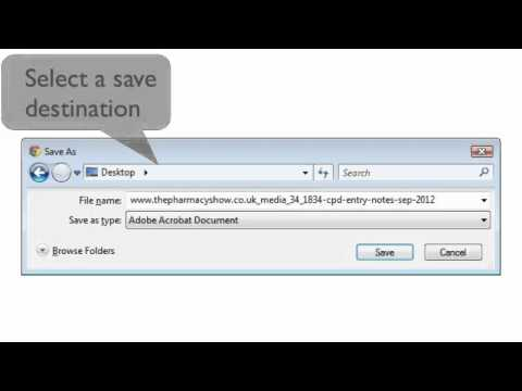 How to save a fillable PDF using Chrome on a PC - YouTube