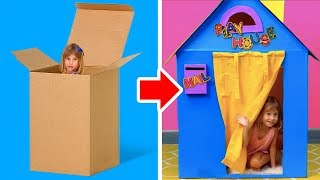 12 DIY CARDBOARD PLAYHOUSES AND TOYS THAT ARE ABSOLUTELY FREE