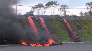 Volcanic Eruption  LAVA FLOW