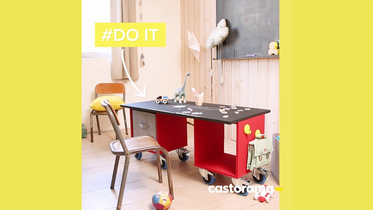 DIY fabriquez un bureau enfant avec des cases Mixxit Castorama