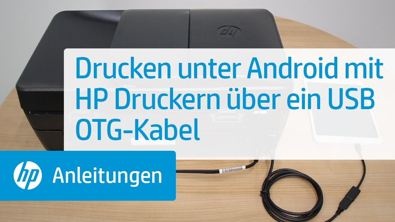 drucken unter android mit hp druckern ber ein usb otg kabel youtube. Black Bedroom Furniture Sets. Home Design Ideas