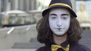 Funny Mime in Hat Slap His Cheek | Stock Footage - Videohive