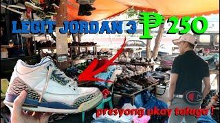 BAGONG tagong ukay SHOES shop sa RECTO !!!!!!! ( JORDAN 3 250 pesos )