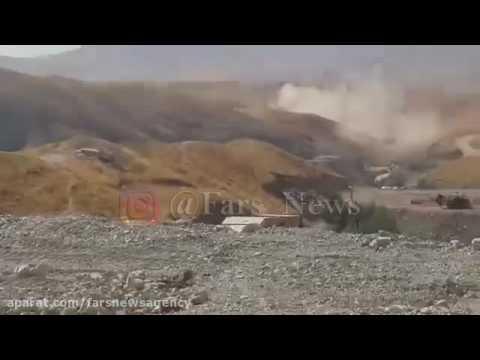IRAN ARMY killing 12 terrorist infiltrating to IRAN from IRAQI KURDISTAN border