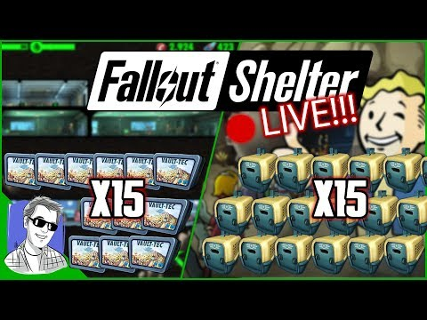 🔴 Fallout Shelter Lunchboxes Opening LIVE Milestone Packs
