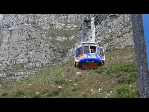 Table Mountain cable car, views at the top .. تلفريك إلي قمة جبل الطاولة ومشاهد في كيب تاون