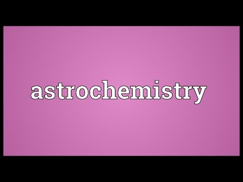 Header of astrochemistry
