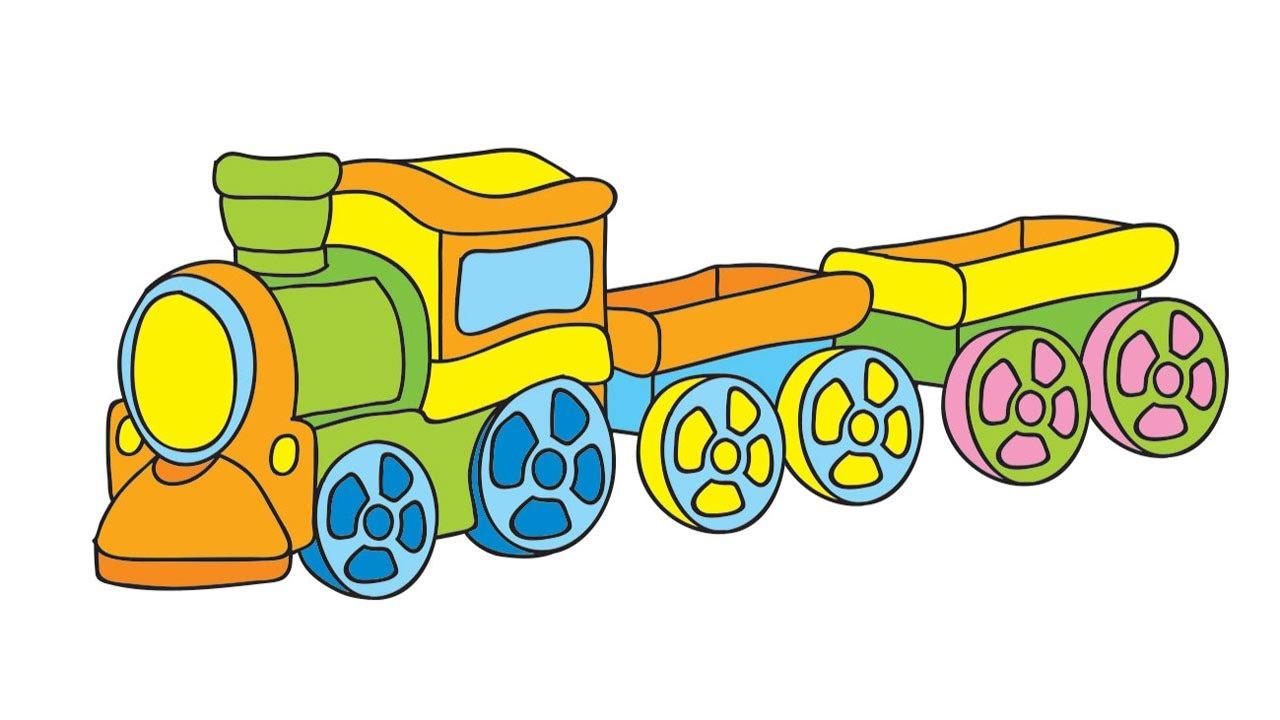 Мультфильм-раскраска для малышей - Мои игрушки - 5 серия ...