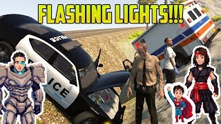 Cars for Kids  FLASHING LIGHTS! Police Cars, Fire Trucks, and Ambulances!
