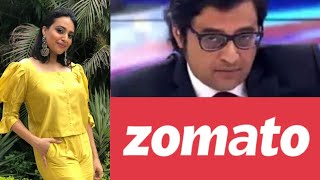 Swara Bhaskar Ko Quick Reply Zomato Ko Pada Bhari - Republic Bharat Ke Khilaf Campaign ?