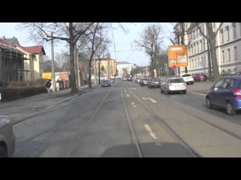 Dresden: No. 8 Tram Ride From Hellerau to Südvorstadt, Dresden, Saxony, Germany: 26th February, 2014