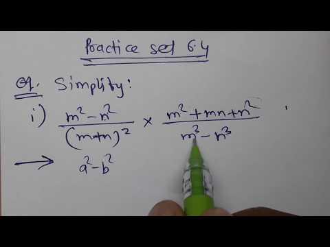 //35//Factorization of Algebraic Expressions, Class 8th Mathematics, Practice set 6.4 part 1,MH Stat