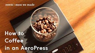 [mwm coffee] 집에서 에어로프레스로 커피 내리…