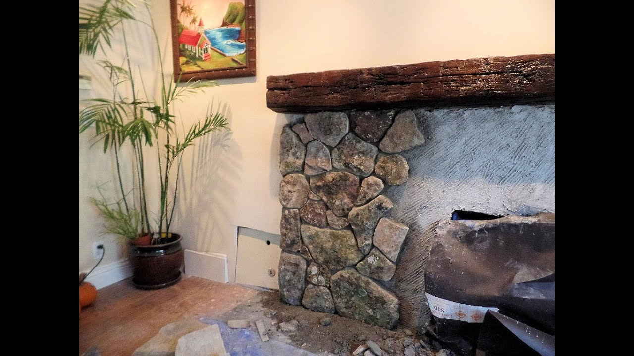 How I Veneer Stone Fireplace Using Natural Thin Stone
