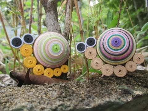 How to make 3D quilling snail
