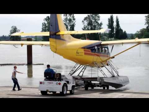 The Launch Of A DHC-3 Single Otter Floatplane