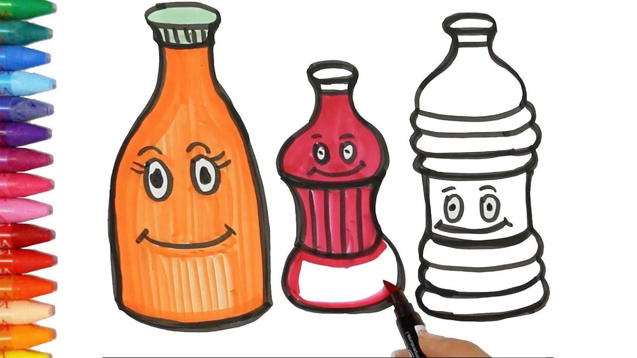 şişe çizimi Nasıl Yapılır şişeler Nasıl çizilir çocuk Ve