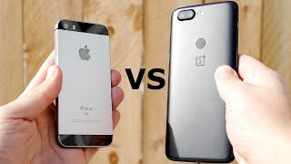 iPhone SE vs OnePlus 5T Speed Test!