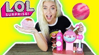 LOL SUPRISE FIZZ FACTORY ! LOL DOLL BATH BOMB MAKER!