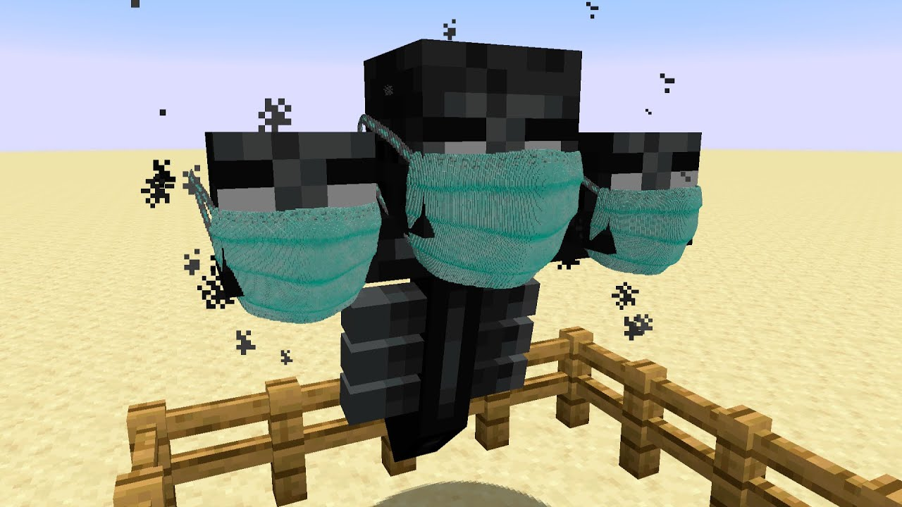 If Mobs Wore Face Masks in Minecraft