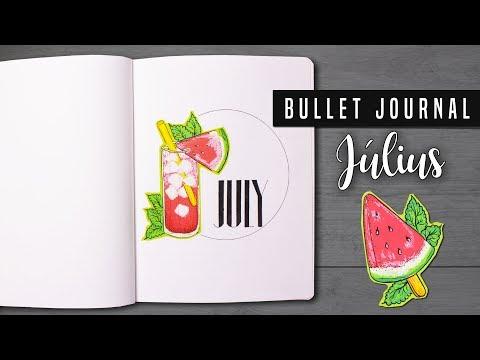 Bullet Journal [MAGYAR] 2018 Július | July