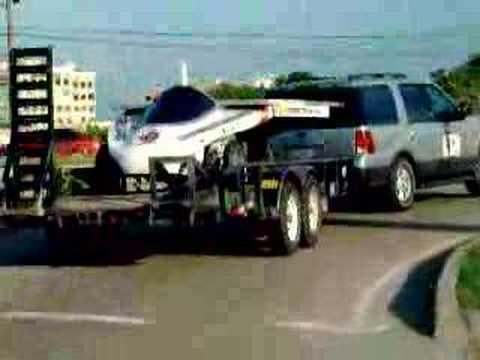 CROEM Solar Car (Transporting in Car Trailer)