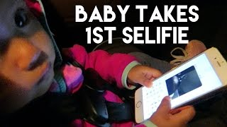 BABY TAKES FIRST SELFIE | The Mongolian Family