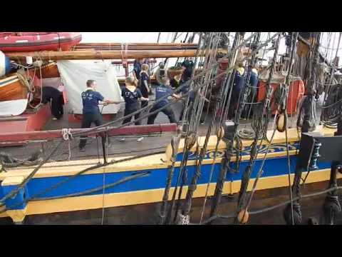 Gotheborg  replica Swedish 18th century ship at Dover 30th August 2015