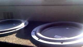 2 10inch re srx subwoofers in ported box