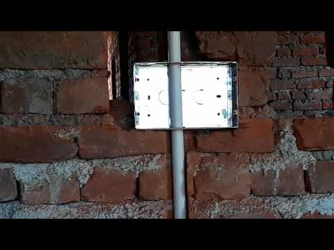 How to make electrical wiring center fitting underground pipe fitting plz subscribers my channel