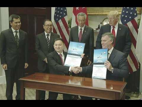 Trump Witnesses Singapore Airline Deal Signing - Full Event