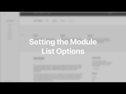 Setting The Module List Options   YOOtheme Documentation (Joomla)