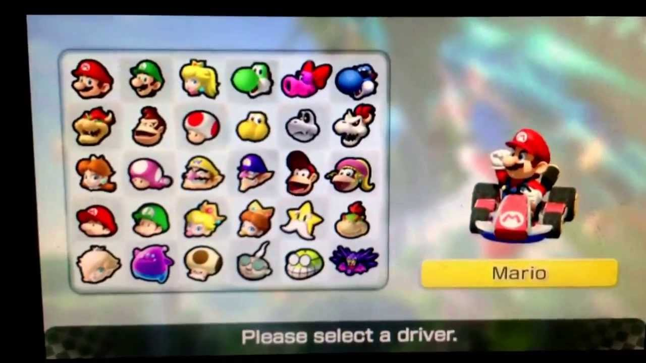 mario kart 8 roster leaked fake or real youtube