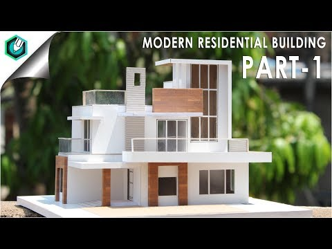 MODERN RESIDENTIAL BUILDING | How To Make | EASY