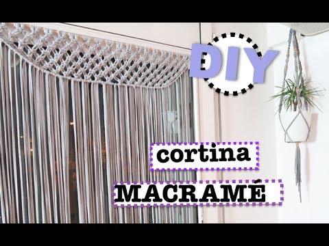 Diy como hacer una cortina macrame con trapillo super - Como hacer trapillo ...