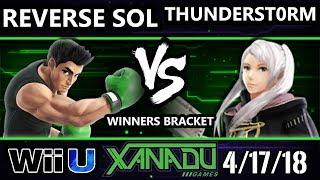 S@X 246 Smash 4 - Reverse Sol (Little Mac) Vs. ThunderSt0rm (Robin) - Wii U Winners Bracket