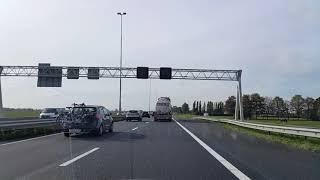 Dashcam Beelden Vianen: A27 Toerit Vianen »Knooppunt Everdingen »Knooppunt Gorinchem.