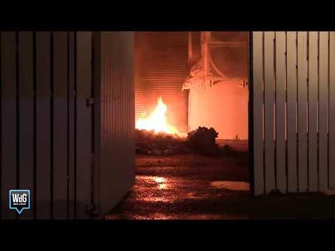 Brand bij La Place restaurant naast A2 bij Weert / Nederweert