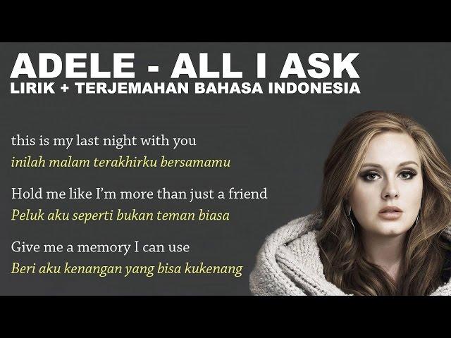 Lagu All I Ask - Adele