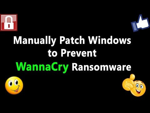 Manually Patch Windows to Prevent WannaCry Ransomware