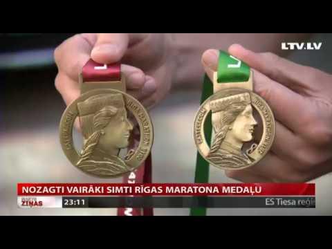 Nozagti vairāki simti Rīgas maratona medaļu