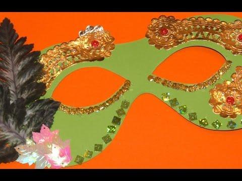 Mágico Antifaz de Hada del Bosque - DIY - Forest Fairy Mask - YouTube