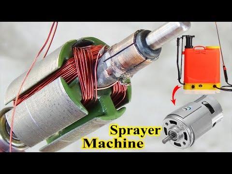 How To Rewind A DC Armature High Power Motor Of Sprayer Machine